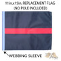 SSP Flags: 11x15 inch Golf Cart Replacement Flag - Thin Red Line