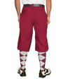 Golf Knickers: Men's 'Par 4' Cotton/Ramine Golf Knickers - Maroon