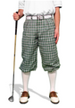 Golf Knickers: Men's 'Par 5' Limited Plaid Golf Knickers - Sherwood