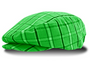 Golf Knickers: Men's  Limited Edition Plaid Golf Knickers & Cap - Lime