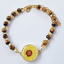 One Putt Designs - Terrific Tiger Eye Ball Marker Ankle Bracelet #4TE