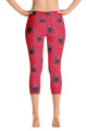 Black Widow Red Women's Capri Leggings by ReadyGOLF