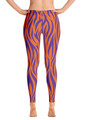 ReadyGOLF: Orange & Purple Tiger Stripes Women's All-Over Leggings