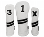 Sunfish: Leather Headcovers Set - White & Black