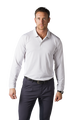 SanSoleil: Men's UPF 50 Solcool Long Sleeve Stripe Button Polo - 900824S