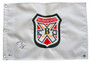 Chevy Chase Signed Embroidered Bushwood Crest Golf Pin Flag