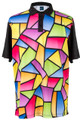 Stained Glass Mens Golf Polo Shirt by ReadyGOLF