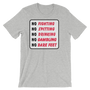 No Fighting Sign T-Shirt by ReadyGOLF