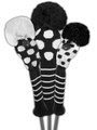 Just 4 Golf - Dot Headcover Set - Black and White