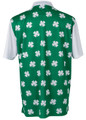 Four-Leaf Clover (White) Mens Golf Polo Shirt by ReadyGOLF