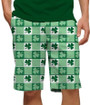Loudmouth Golf: Men's StretchTech  Shorts - Corned Beef with Shamrocks*