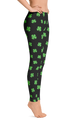Four-Leaf Clover (Lime Green) Women's All-Over Leggings by ReadyGOLF