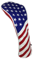 USA Flag Embroidered Headcover Set by ReadyGOLF - Driver, Fairway, Hybrid