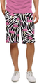 Loudmouth Golf: Men's StretchTech Shorts - Savage Flamingos