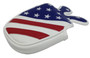 ReadyGolf: USA Flag Embroidered Putter Cover - Mallet