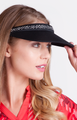 Tail Activewear: Women's Embellished Rhinestone Visor - Black
