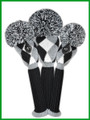 Just 4 Golf: Diamond Set Headcovers - Gray, Black & White
