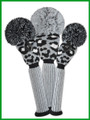 Just 4 Golf: Leopard Headcover Set - Gray, Black & White