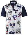 ReadyGolf Mens Golf Polo Shirt - Candy Skulls