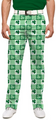 Loudmouth Golf: Men's StretchTech  Pants - Corned Beef with Shamrocks