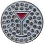 ReadyGolf: Martini (Pink Cosmopolitan) Ball Marker & Hat Clip with Crystals