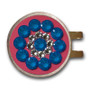 Blingo Ball Markers: Electric Blue on Pink