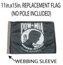SSP Flags: 11x15 inch Golf Cart Replacement Flag - POW MIA
