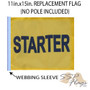 SSP Flags: 11x15 inch Golf Cart Replacement Flag - Starter