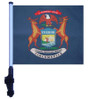 SSP Flags: 11x15 inch Golf Cart Flag with Pole - State of Michigan