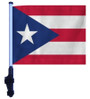 SSP Flags: 11x15 inch Golf Cart Flag with Pole - Puerto Rico