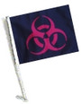 SSP Flags: Car Flag with Pole - Biohazard Green