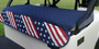 GolfChic: Golf Cart Seat Cover - Stars & Stripes on Navy Quilt