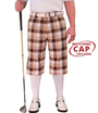 Golf Knickers: Men's 'Par 5' Plaid Golf Knickers & Cap - Belfast