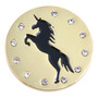 ReadyGolf: Unicorn Silhouette Ball Marker & Hat Clip with Crystals