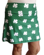 ReadyGolf: Ladies Active Skort - Four-Leaf Clover (White)