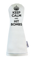 Sunfish: Headcover (Driver, Fairway, Hybrid, or Set) - Keep Calm and Hit Bombs
