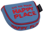 Happy Place Embroidered Putter Cover - Mallet