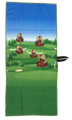 Dancing Gopher Waffle Golf Towel by ReadyGOLF