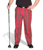 Golf Knickers: Men's 'Par 5' Cotton/Ramie Golf Trousers - Royal Stewart
