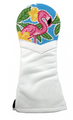 Smathers & Branson: Fairway Wood Needlepoint Golf Headcover - Pink Flamingo
