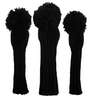 Sunfish: Hand-Knit Classic Headcovers - Murdered Out Black on Black