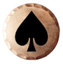 Sunfish: Copper Ball Marker - Ace of Spades