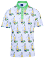 Beer O'Clock Somewhere Mens Golf Polo Shirt by ReadyGOLF