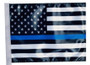 SSP Flags: 11x15 inch Golf Cart Replacement Flag - Thin Blue Line USA Black and White