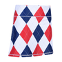 Classic Argyle Red, White & Blue Ladies Active SKORT by ReadyGOLF
