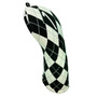 BeeJos: Golf Head Cover - White and Black Argyle Print