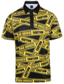 Caution Bad Driver Mens Golf Polo Shirt by ReadyGOLF