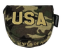 ReadyGolf: Military USA Camo Embroidered Putter Cover - Mallet