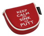 Keep Calm & Sink the Putt Embroidered Putter Cover - Mallet by ReadyGOLF