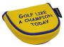 Golf Like A Champion Embroidered Putter Cover - Mallet by ReadyGOLF